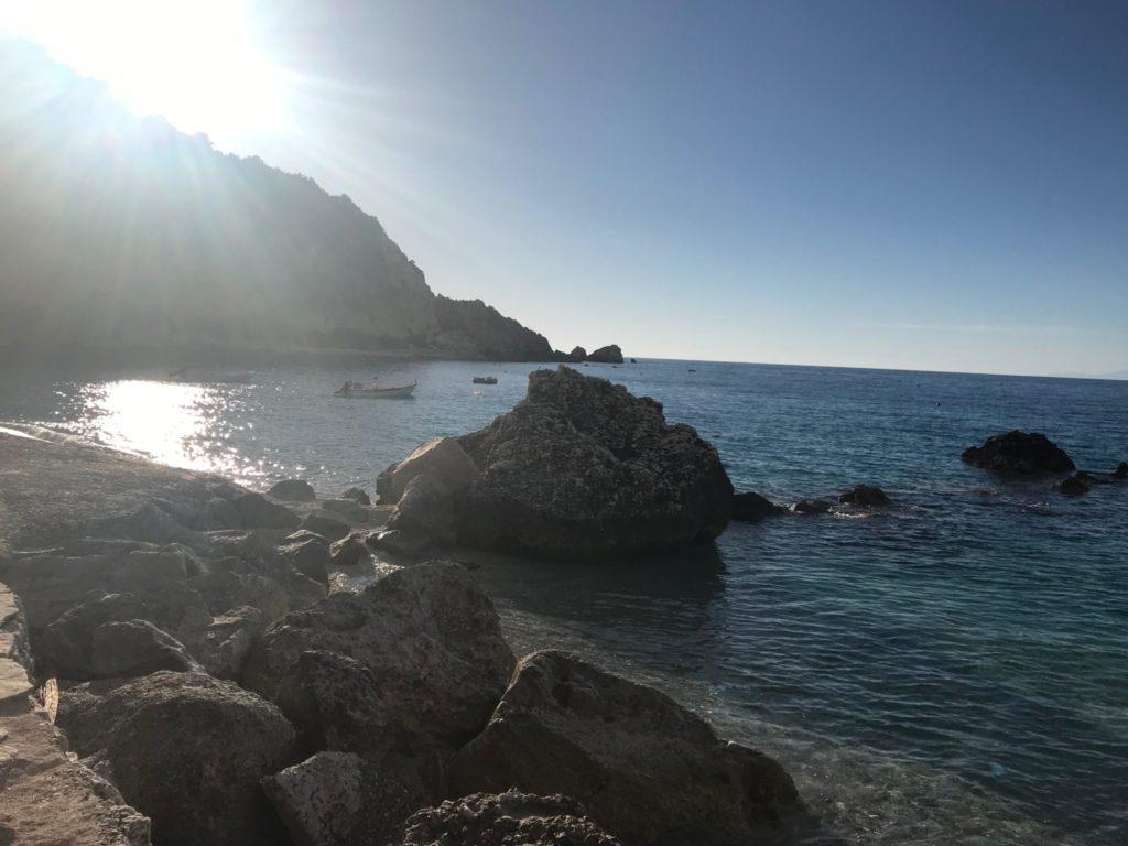 The beach at Agios Nikitas, Lefkada, Greece