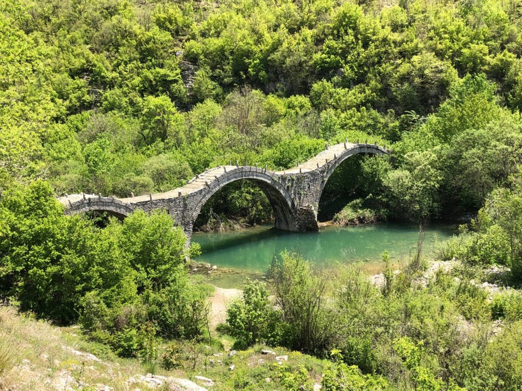The three arches of Plakidas Bridge